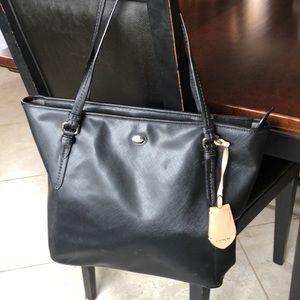 COACH Peyton Black Saffiano Leather Tote
